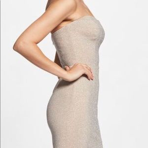 Dress the Population Claire Metallic Midi Dress